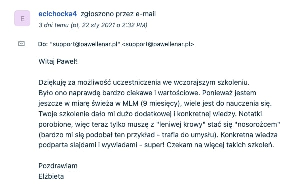 pawel lenar testymonial19 - Paweł Lenar Blog
