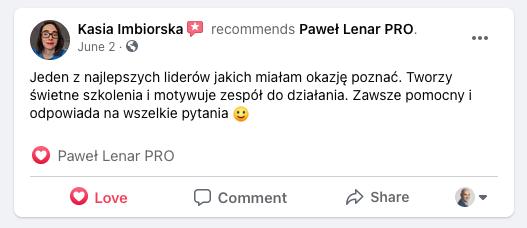 testymoniale 03 - Paweł Lenar Blog