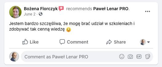 testymoniale 08 - Paweł Lenar Blog