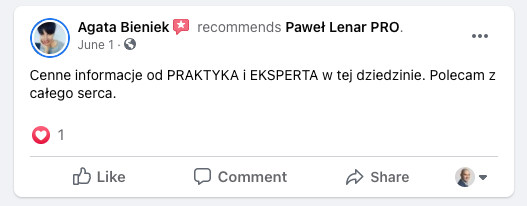 testymoniale 10 - Paweł Lenar Blog