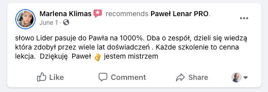 testymoniale 13 - Paweł Lenar Blog