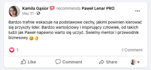 testymoniale 16 - Paweł Lenar Blog