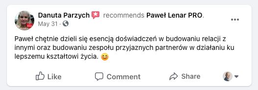 testymoniale 22 - Paweł Lenar Blog