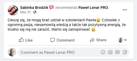 testymoniale 26 - Paweł Lenar Blog