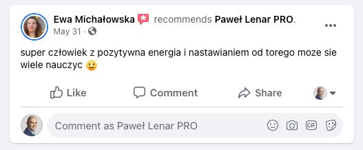 testymoniale 30 - Paweł Lenar Blog